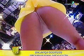 Super hot up skirt on live tv with naughty, sexy dancers