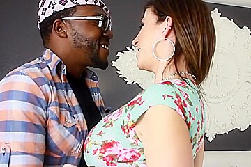 Amazing pornstar Sara Jay in fabulous cumshots, interracial adult clip