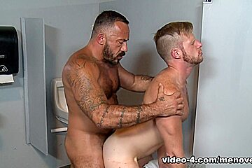 Alessio Romero & Brian Bonds in Gym Glory Hole Video - MenOver54