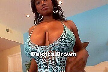 Fabulous pornstar Delotta Brown in exotic facial, interracial porn video