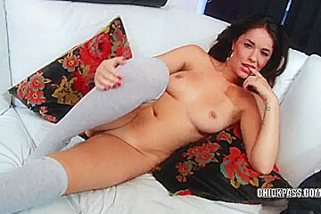 Diminutive coed Ava Dalush copulates her toy