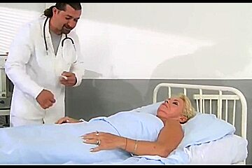 Doctor gives his patient a thorough check up