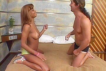 Horny pornstar in crazy facial, black and ebony porn clip