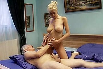 Old man fucks young busty blonde hard