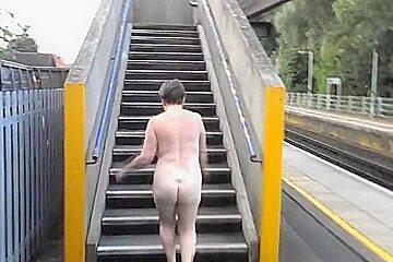 Small titted milf suzy naked bridge walk.