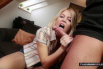LaSublimeXXX Sweet Cat takes big cock for first time