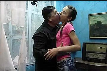 Old guy bonks and kiss slender Legal Age Teenager (Nataly Gold)