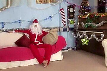 Ballbusting santa