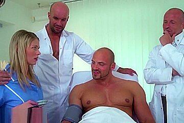 3 Doctors, 1 Patient A Young Nurse Gangbang