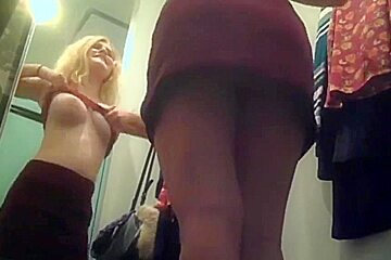 big boobs changing room college girl