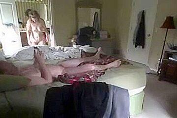 Morning hidden cam bedroom sex