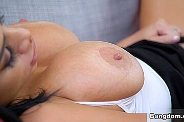 Naughty House Guest And Her Juicy Big Tits - BangBros