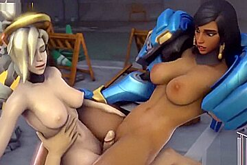 Latina fuck with Pharah from overwatch porn parody