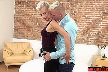 Hot milf blowjob with cumshot