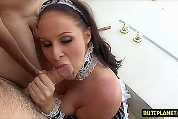 Natural tits pornstar blowjob with swallow