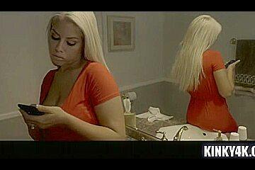 Latin pornstar bondage and cum on pussy