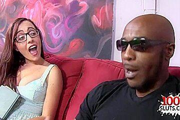 Natural tits pornstar interracial and cum on face