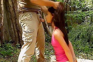 Sweet Teenage Babe Gets Handcuffed and Screwed Hard