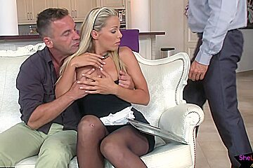 European maid gets fucked by her bosses