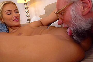 Cherry Kiss fucked by a dirty grandpa