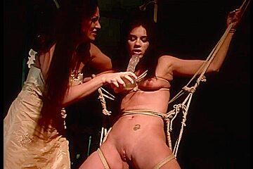 Lesbians enjoy hardcore fisting and bondage
