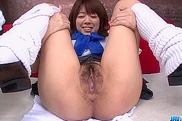 Miyu Aoi, Asian schoolgirl, plays w - More at javhd.net