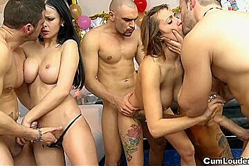 Abbie Cat acquires drilled in an Fuckfest during a Recent Year's Eve Party