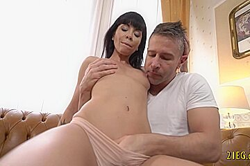 Teen enjoys hardcore anal with a big cock