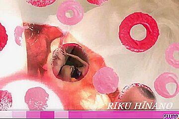 Riku Hinano throats hard and - More at Slurpjp.com