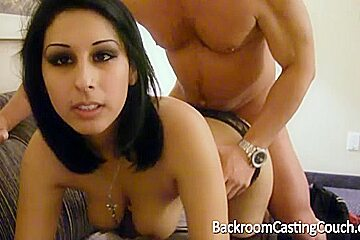 Brunette girl moaning with my dick in her bum