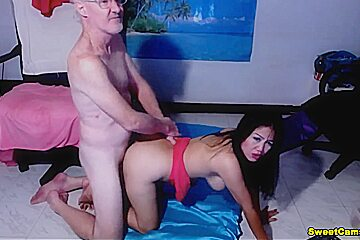 Horny Asian Hottie Fuck Hard By Lucky A Old Guy