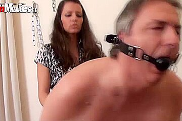 Larissa Gold in FunMovies video:Stapon Slave