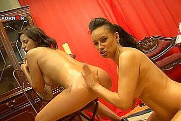 Eva May,Veronica Knocks in PornXN video:Banging Brunettes