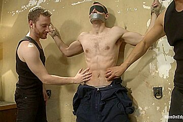 Straight stud gets tricked into having his cock edged
