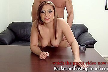 Gorgeous chick gets pounded in the asshole for a porn star job