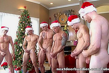 NextDoorBuddies Video: Christmas Orgy
