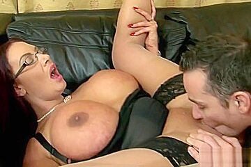 Charming busty Emma Butt featuring hot sex action ending with cumshot