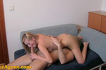 FakeAgent HD: Foxy student takes anal creampie