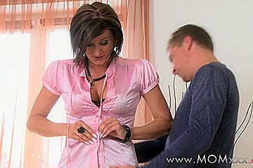 Mom xxx: wife MILF see's to her business