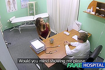 Hawt angel with large billibongs receives doctors treatment in advance of learning this babe can squirt