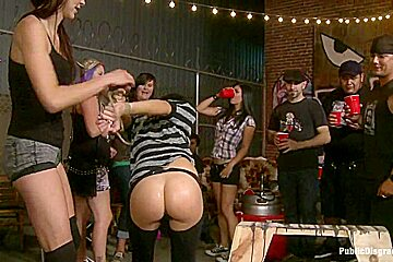 Brand New Model Gets the full Public Disgrace Experience ASS ALERT