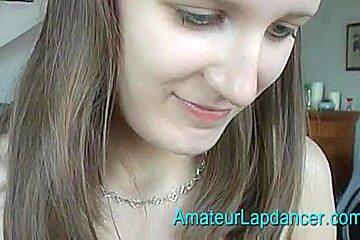 Lapdance by czech amateur student Radka
