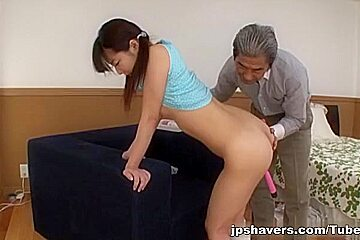 Young Japanese hottie gets pounded by old guy