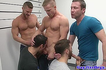 Athletic hunks blowing the whistlles