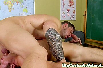 Bigcock jock fucking his mouth and ass
