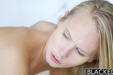 BLACKED Blonde Teen Dakota James First Experience with Big Black Cock