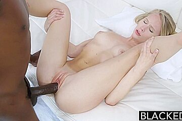 BLACKED Blonde Teen Dakota James First Experience with Big Black Cock
