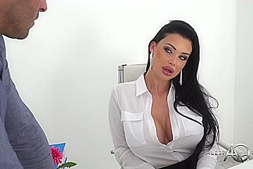 Smoking hot, French brunette with big boobs, Aletta Ocean is spreading her legs and getting fucked