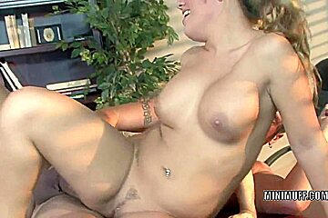 Blonde hottie Aubrey Addams gets fucked in the office
