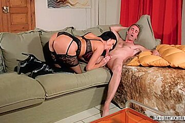 Ania Kinski In Black Stocking And Boots Gets Fucking Hard